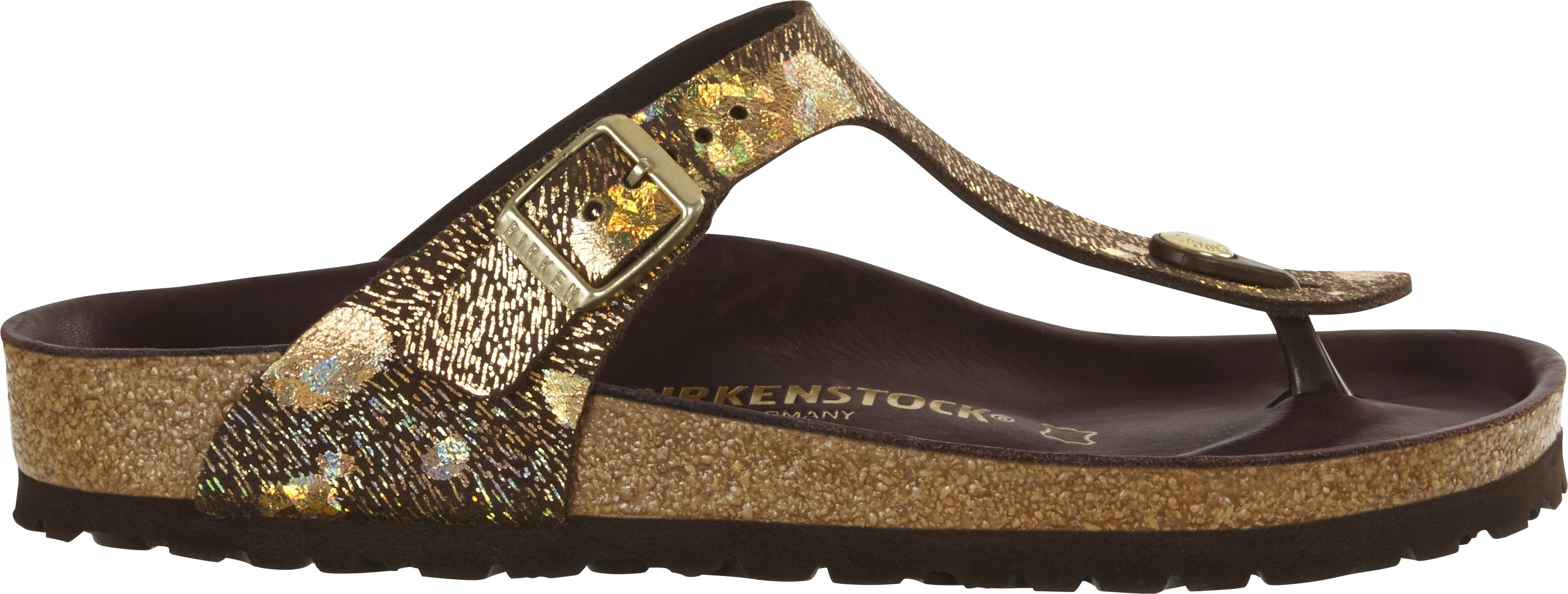 105fe00a3e70 ... Preview  Birkenstock Exquisit Gizeh Spotted Metallic Brown ...