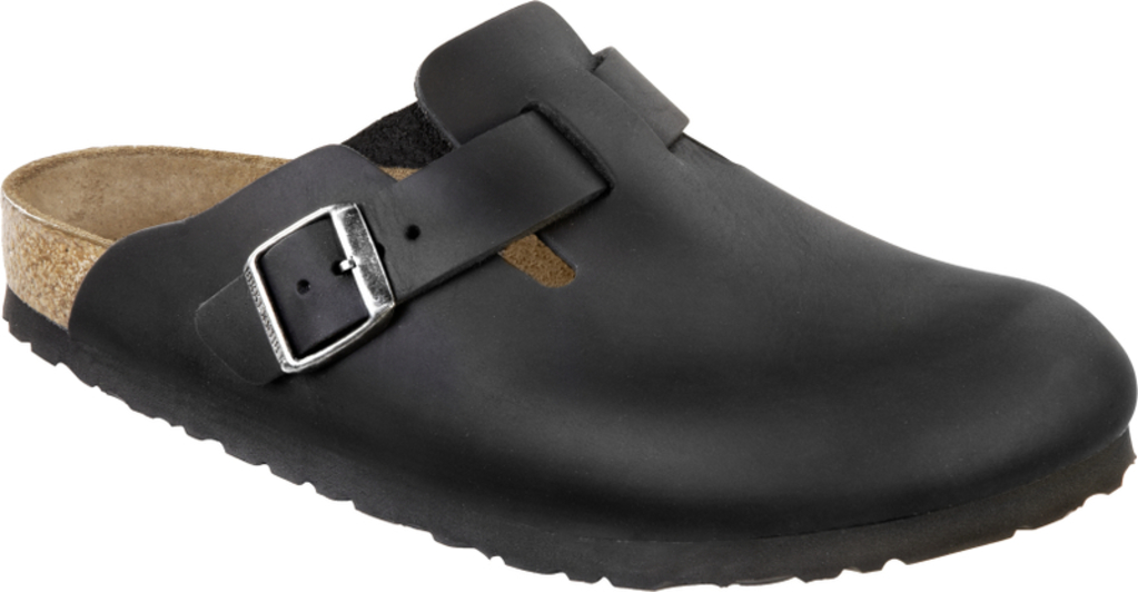 Birkenstock Boston Black Waxy Leather