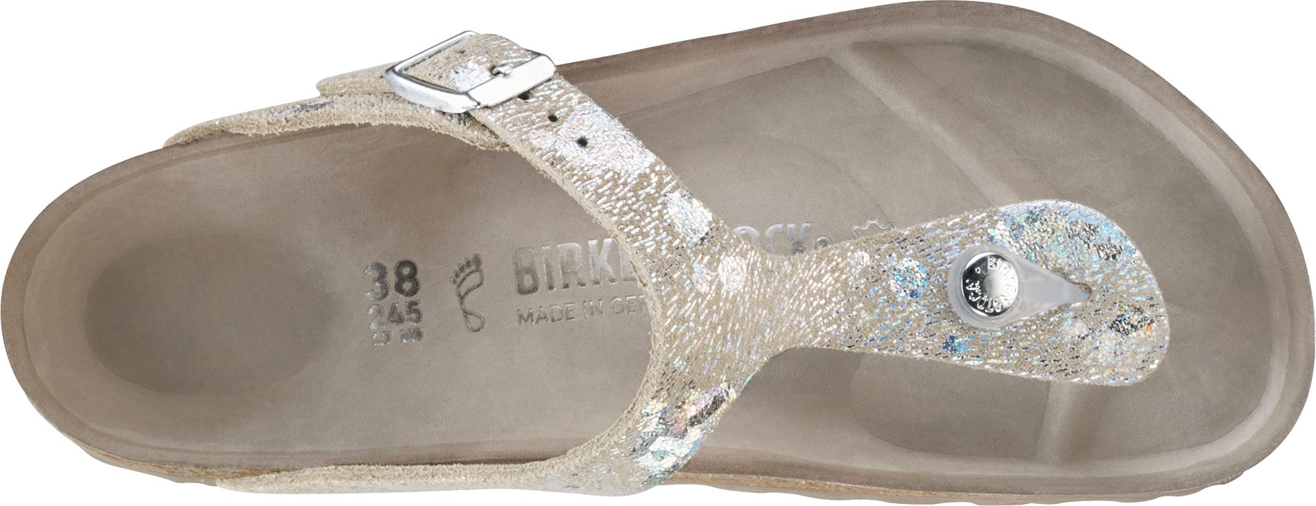 0207cc092cef ... Preview  Birkenstock Exquisit Gizeh Spotted Metallic Silver ...