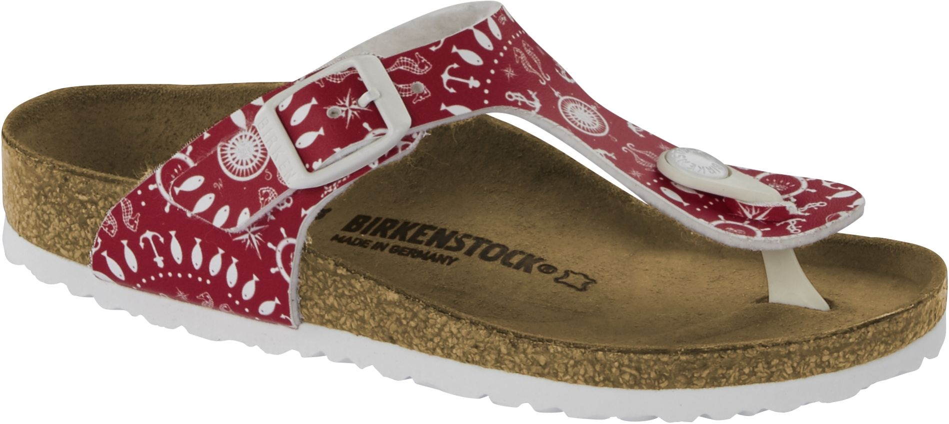 Birkenstock Gizeh Kids Nautical Print Red