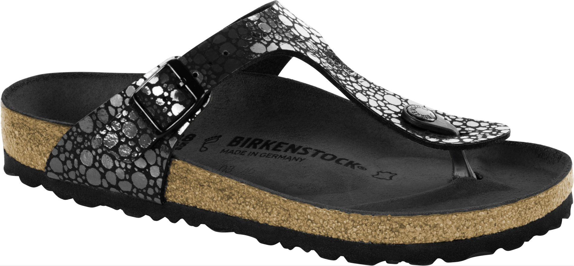 birkenstock gizeh metallic stones black schuhshop24. Black Bedroom Furniture Sets. Home Design Ideas