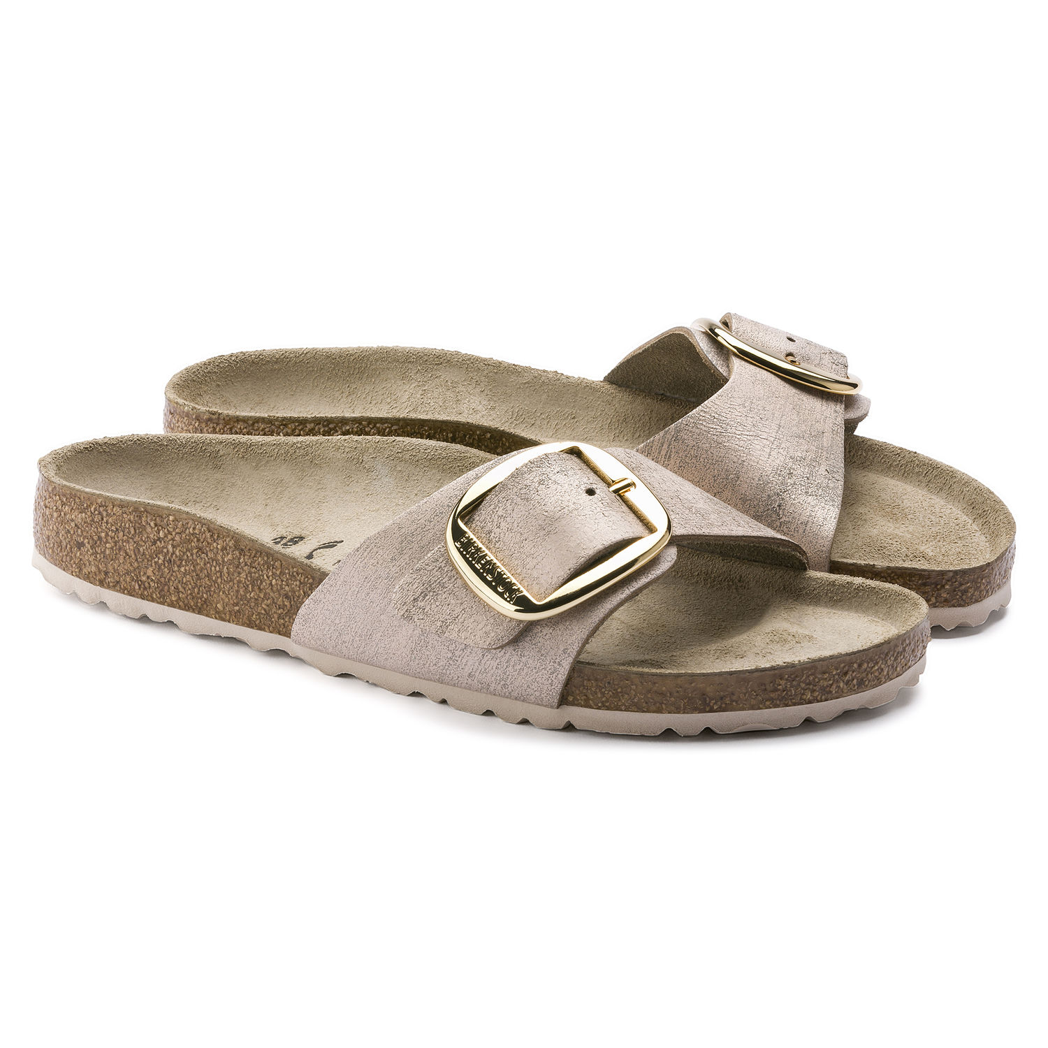 f86ca8872d5c ... Preview  Birkenstock Madrid Big Buckle Washed Metallic Rose Gold ...